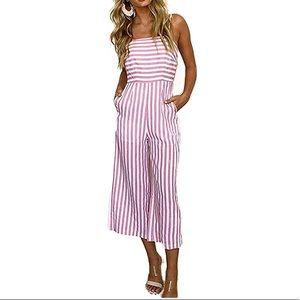Adorable striped jumpsuit